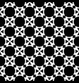 seamless abstract art black white pattern vector image