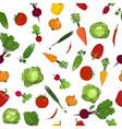 Seamless pattern of fresh raw vegetables vector image