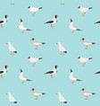 seamless texture with flying seagulls vector image vector image