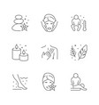 set line icons spa vector image