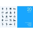 Set of BLUE HAMSTER Library Egypt icons vector image vector image