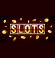 slots gambling games csino banner with slots vector image vector image
