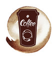 spot coffee vector image vector image