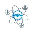 successful business creative logo handshake vector image vector image