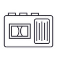 tape recorder line icon sign vector image