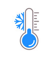 thermometer snow cold temperature icon vector image vector image