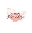 tropical paradise hand drawn logotype template vector image vector image