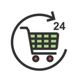 Twenty-Four Hour Shopping vector image