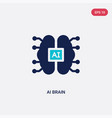two color ai brain icon from artificial