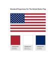 united states flag icon usa flag standard vector image