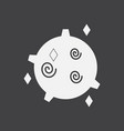 White icon on black background spinning satellite vector image
