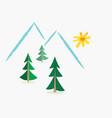 winter alpine landscape sketchlike vector image