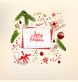 winter background with gift boxes vector image vector image