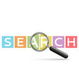 word search emblem on multi-colored cubes vector image