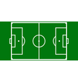 football pitch layout vector image