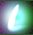 single light blue neon letter l of vector image