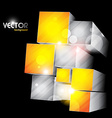 cube shapes vector image