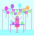 people birthday celebration vector image