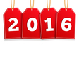 2016 on Red Tags vector image vector image