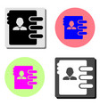 address book flat icon vector image