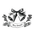 antique engraving christmas black and white vector image vector image