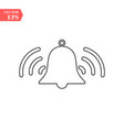 bell outline icon alarm handbell line vector image