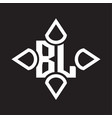 bl logo monogram with four cone rounded vector image vector image