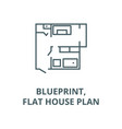 blueprintflat house plan line icon vector image vector image