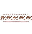 camel caravan seamless pattern with ethnic motifs vector image vector image