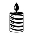 candle holiday icon simple black style vector image vector image