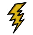 cartoon image of lightning icon bolt symbol vector image