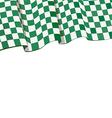 checkered racing flag on top vector image