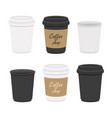 coffee mug cup with cardboard holders vector image vector image