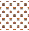 coffee shop pattern seamless vector image vector image