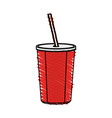 color crayon stripe cartoon plastic soda vector image vector image