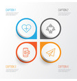 communication icons set collection of team vector image