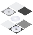 Compact disc isometric detailed set vector image
