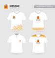 company logo shirts design with shopping bag logo vector image
