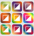 contrast icon sign Nine buttons with bright vector image