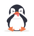 cute funny fat penguin vector image vector image