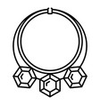 diamond necklace icon outline style vector image vector image