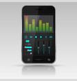 digital equalizer on smartphone screen vector image