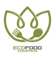 eco food logo vector image