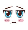 face expression cartoon vector image vector image