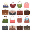 female and male handbags fashion lady purse and vector image vector image