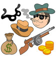 gangster collection vector image