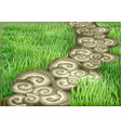 garden path vector image vector image