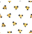 gold foil ditsy flowers seamless pattern vector image vector image