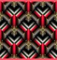 greek key meander striped 3d seamless pattern vector image