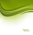 Green Wavy Background Design Template vector image vector image